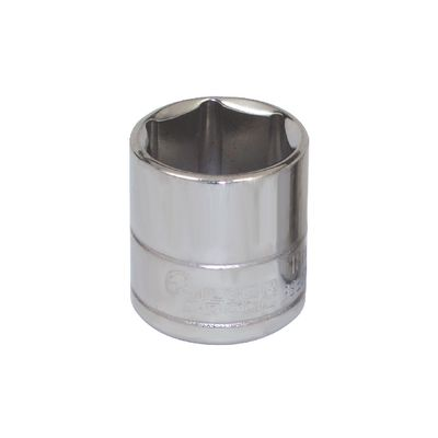"3/8"" DRIVE SILVER EAGLE 18MM METRIC 6 POINT CHROME SOCKET 