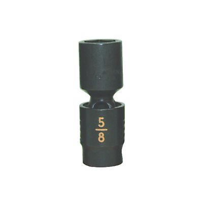 "3/8"" DRIVE 5/8"" SAE 6 POINT MID-LENGTH UNIVERSAL IMPACT SOCKET 