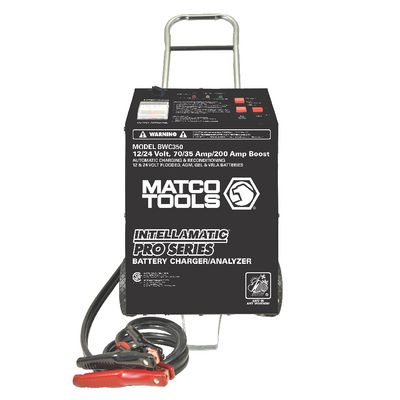 12/24V INTELLAMATIC SMART WHEEL CHARGER WITH POWER SUPPLY AND MEMORY SAVER