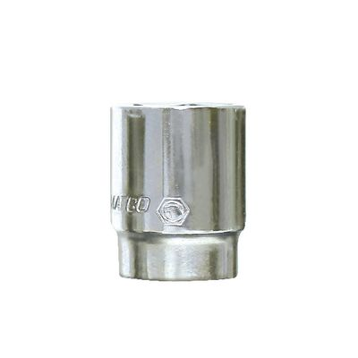 "1/2"" DRIVE 1-1/8"" SAE 12 POINT CHROME SOCKET 