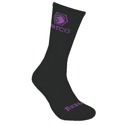 REDBACK LADIES MATCO BLACK WITH PURPLE CREW SOCKS - 6 PAIRS | Matco Tools