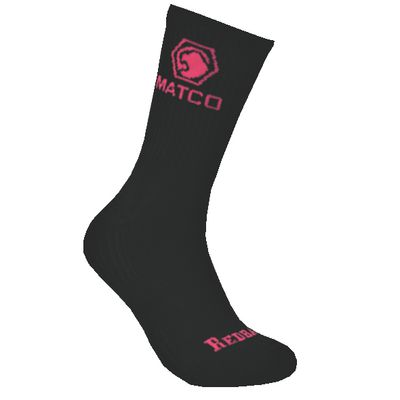 REDBACK LADIES MATCO BLACK WITH PINK CREW SOCKS - 6 PAIRS | Matco Tools