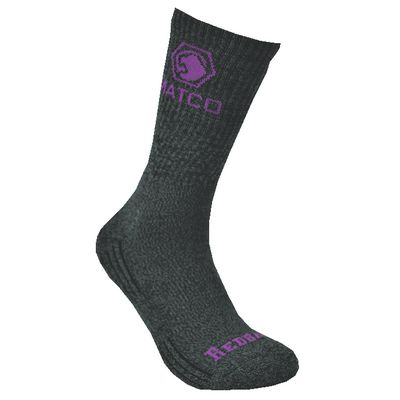REDBACK LADIES MATCO HEATHER WITH PURPLE CREW SOCKS - 6 PAIRS | Matco Tools