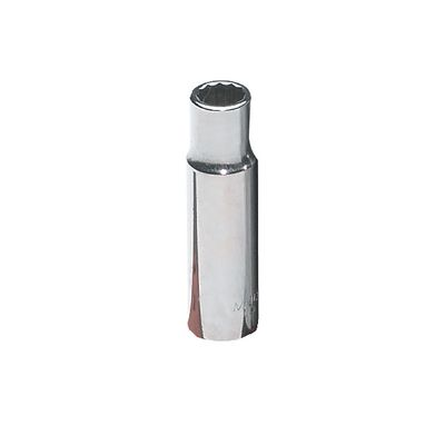 "1/2"" DRIVE 1/2"" SAE 12 POINT DEEP CHROME SOCKET 