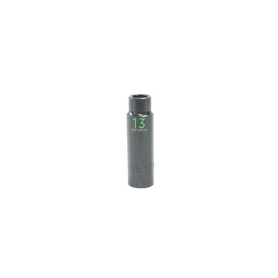 "1/2"" DRIVE 13MM METRIC 6 POINT DEEP IMPACT SOCKET - GREEN 
