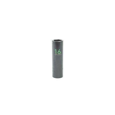 "1/2"" DRIVE 16MM METRIC 6 POINT DEEP IMPACT SOCKET - GREEN 