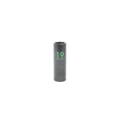 "1/2"" DRIVE 19MM METRIC 6 POINT DEEP IMPACT SOCKET - GREEN 