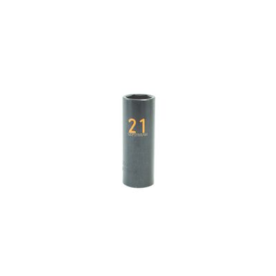 "1/2"" DRIVE 21MM METRIC 6 POINT DEEP IMPACT SOCKET - ORANGE 