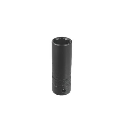 "1/2"" DRIVE 19MM 6 POINT 6 POINT DEEP THIN WALL IMPACT SOCKET 