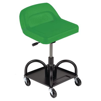 ADJUSTABLE HIGH BACK PADDED MECHANIC'S SEAT - GREEN | Matco Tools