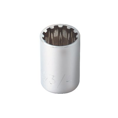 "1/2"" DRIVE 3/4"" SPLINE SOCKET 