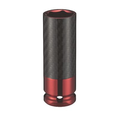 "1/2"" DRIVE 21MM THIN WALL SOCKET-RED 