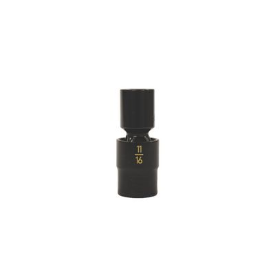 "1/2"" DRIVE 11/16"" SAE 6 POINT UNIVERSAL IMPACT SOCKET 