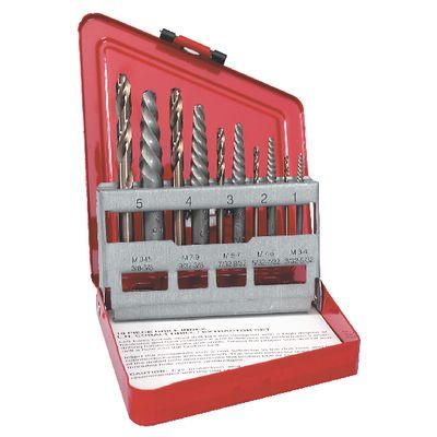 bolt extractor set. 10 piece left drill bit extractor kit bolt extractor set