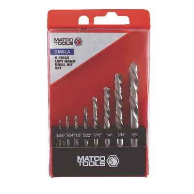 8 PIECE LEFT HAND DRILL BIT SET | Matco Tools