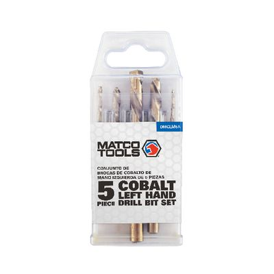 5 PIECE COBALT LEFT HAND DRILL SET | Matco Tools