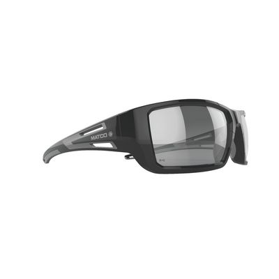 FORCEFLEX SAFETY GLASSES BLACK FRAME WITH FULL FRAME IN/OUT LENSES | Matco Tools