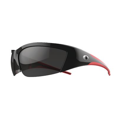 FORCEFLEX SAFETY GLASSES BLACK AND RED FRAME WITH HALF FRAME ANTI-FOG SMOKE LENSES | Matco Tools