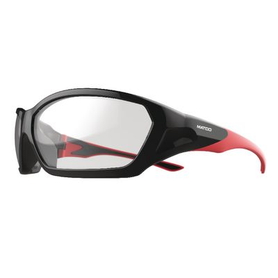 FORCEFLEX SAFETY GLASSES BLACK AND RED FRAME WITH FULL FRAME ANTI-FOG CLEAR LENSES | Matco Tools