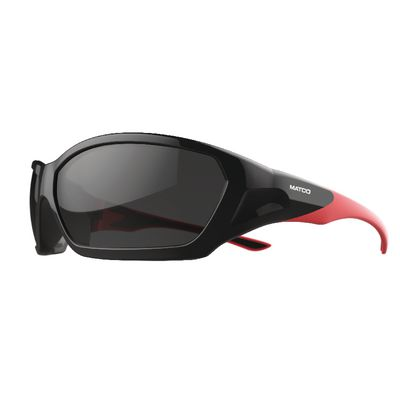FORCEFLEX SAFETY GLASSES BLACK AND RED FRAME WITH FULL FRAME ANTI-FOG SMOKE LENSES | Matco Tools