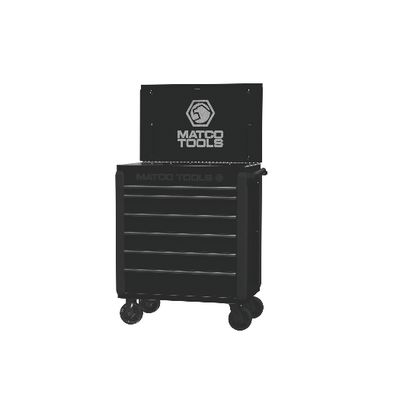 JAMESTOWN SERVICE CART 480 SERIES BLACK WITH BLACK TRIM | Matco Tools