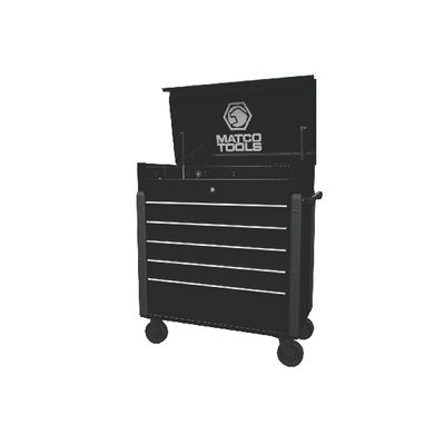 JAMESTOWN SERVICE CART 753 SERIES OUTLAW BLACK WITH CHROME TRIM | Matco Tools