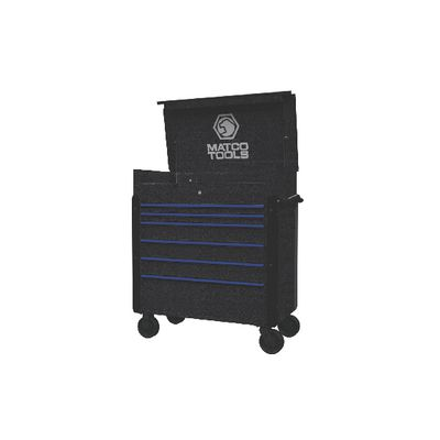 JAMESTOWN SERVICE CART 773 SERIES BLACK VEIN WITH BLUE TRIM | Matco Tools