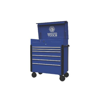 JAMESTOWN SERVICE CART 773 SERIES BLUE WITH CHROME TRIM | Matco Tools