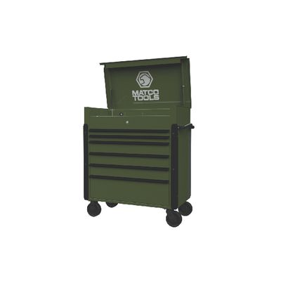 JAMESTOWN SERVICE CART 773 SERIES MILITARY GREEN WITH BLACK TRIM | Matco Tools