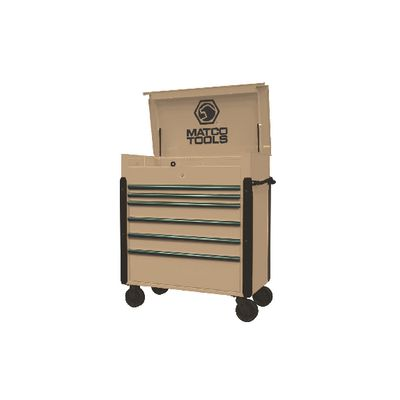 JAMESTOWN SERVICE CART 773 SERIES DESERT TAN WITH OLIVE TRIM | Matco Tools