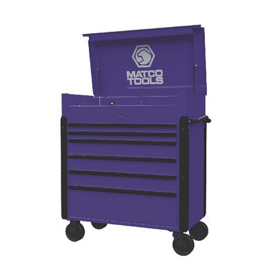 JAMESTOWN SERVICE CART 773 SERIES ELECTRIC PURPLE WITH BLACK TRIM | Matco Tools