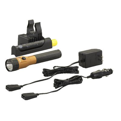 STINGER DUAL SWITCH LED FLASHLIGHT WITH PIGGYBACK CHARGER - ORANGE | Matco Tools