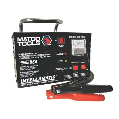 12V INTELLAMATIC SMART PORTABLE BENCH TOP CHARGER WITH POWER SUPPLY  | Matco Tools