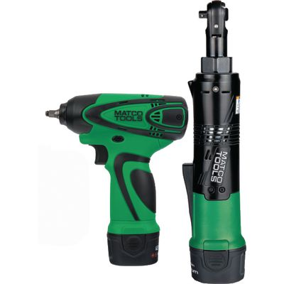 "12V CORDLESS INFINIUM™ 1/4"" DRIVE IMPACT WRENCH AND 1/4"" DRIVE HIGH SPEED RATCHET KIT - GREEN 