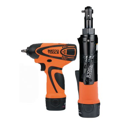 "12V CORDLESS INFINIUM™ 1/4"" DRIVE IMPACT WRENCH AND 1/4"" DRIVE HIGH SPEED RATCHET KIT - ORANGE 