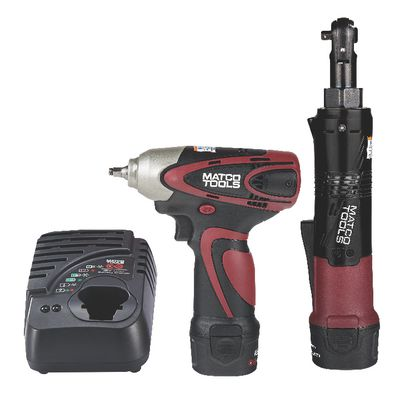 "12V CORDLESS INFINIUM™ 1/4"" DRIVE IMPACT WRENCH AND 1/4"" DRIVE HIGH SPEED RATCHET KIT - BURGUNDY 