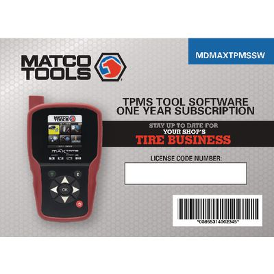 MDMAXTPMS ANNUAL UPDATE | Matco Tools