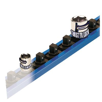 "1/4"" DRIVE LOCK-A-SOCKET RAIL - BLUE 