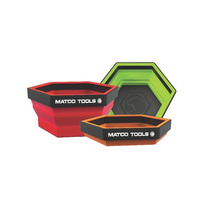 COLLAPSIBLE MAGNETIC TRAYS - SET OF 3