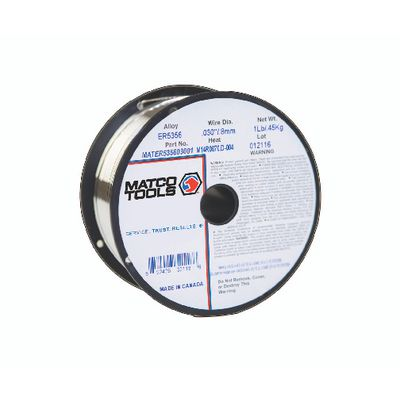 WELDING WIRE ER5356 X .030 X 1 LB. SPOOL | Matco Tools