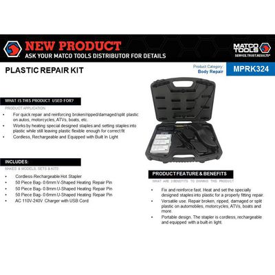 PLASTIC REPAIR KIT | Matco Tools