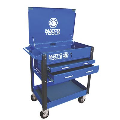 TWO DRAWER SERVICE CART BLUE | Matco Tools