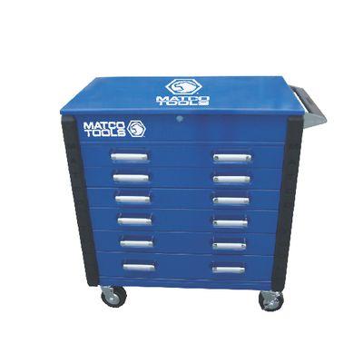 heavy-duty full drawer service cart blue msc4blfdp | matco tools