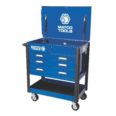 4-drawer heavy-duty service cart blue msc4blqp | matco tools
