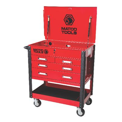 4-drawer heavy-duty service cart red msc4rqp | matco tools