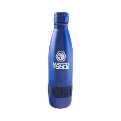 STAINLESS STEEL BOTTLE WITH BLUETOOTH SPEAKER- BLUE | Matco Tools