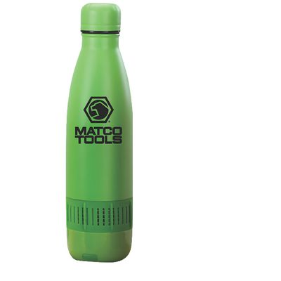 STAINLESS STEEL BOTTLE WITH BLUETOOTH SPEAKER- GREEN | Matco Tools