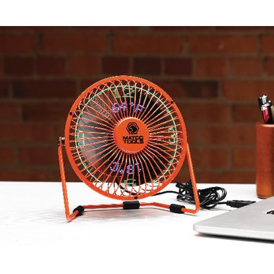 DESKTOP USB TEMP & CLOCK FAN- ORANGE | Matco Tools
