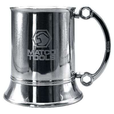 HALF-MOON WRENCH STAINLESS STEEL BEER STEIN | Matco Tools