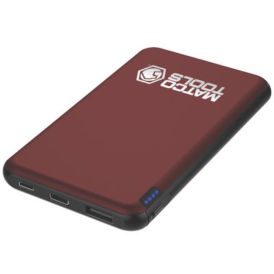 5000MAH POWERBANK - BURGUNDY | Matco Tools